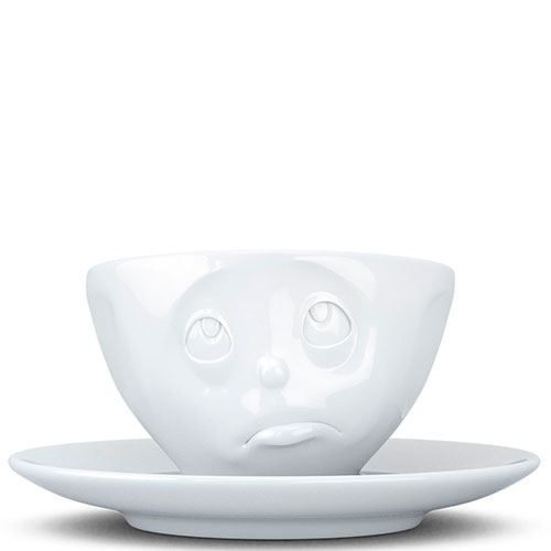 Фарфоровые чашка с блюдцем Tassen Please, фото