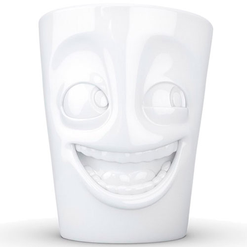 Фарфоровая чашка Tassen Joking белого цвета, фото
