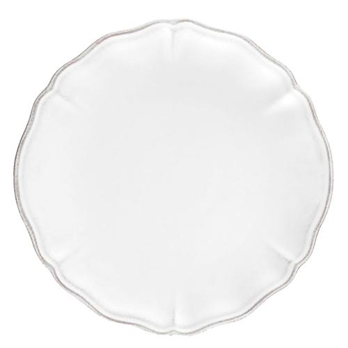 Тарелка десертная Costa Nova Alentejo белого цвета 21см, фото