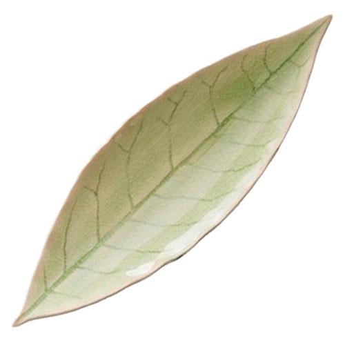 Зеленое блюдо Costa Nova Riviera Лавровый лист, фото