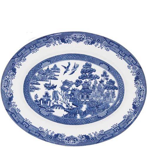 Блюдо овальное Churchill Blue Willow 31 см, фото