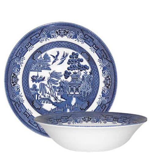 Тарелка глубокая Churchill Blue Willow 24 см, фото