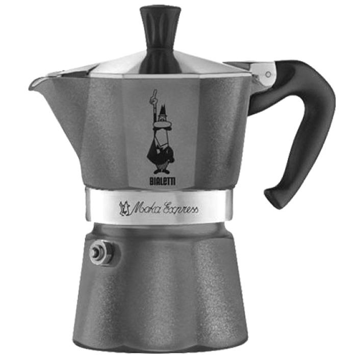 Кофеварка гейзерная Bialetti Moka Express Emotion серая