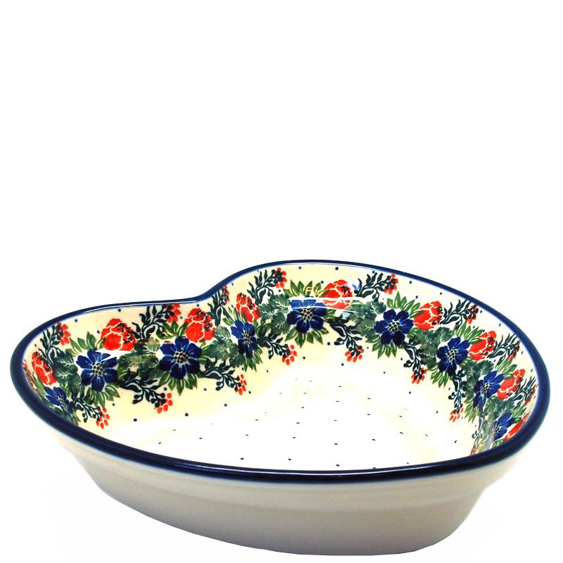 Пиала Ceramika Artystyczna Лесной веночек в виде сердца