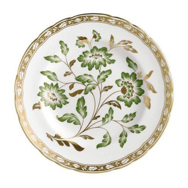 Тарелка Royal Crown Derby Panel Green с рисунком по центру 21,5 см