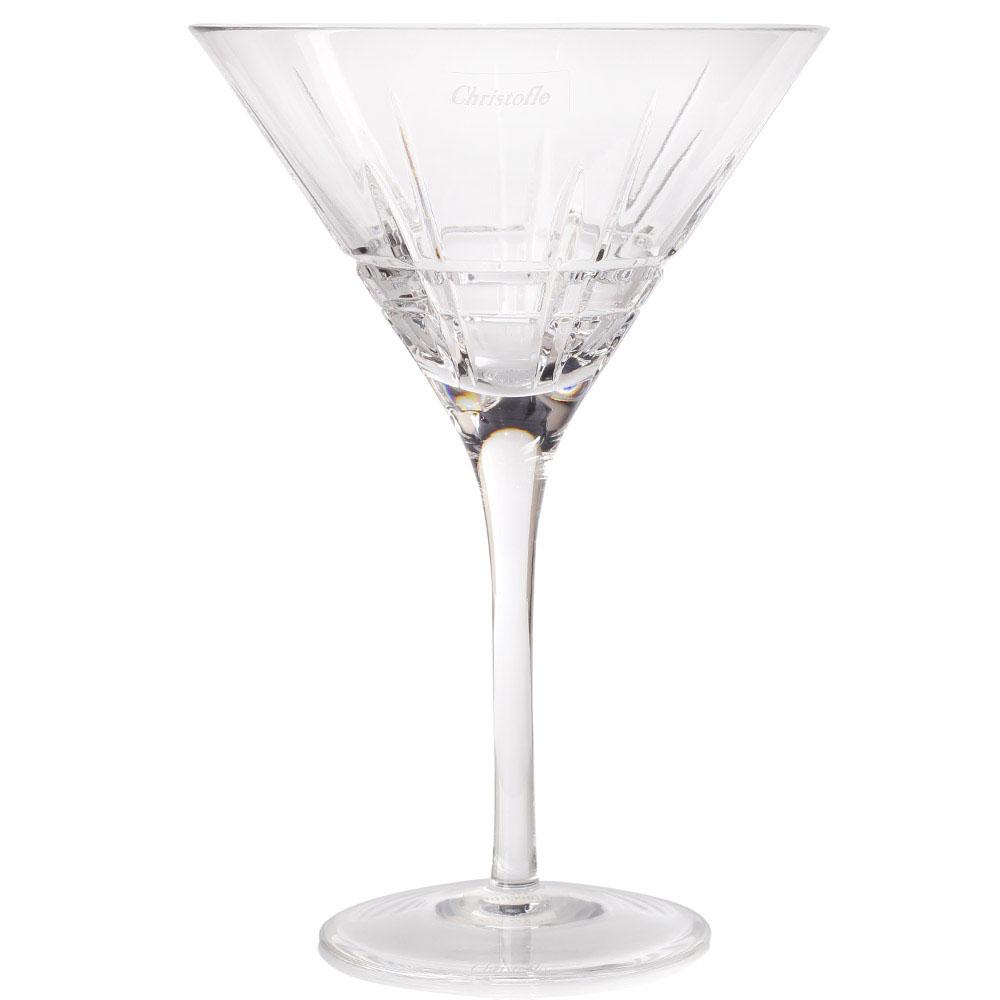 Набор хрустальных бокалов для мартини Christofle Scottich