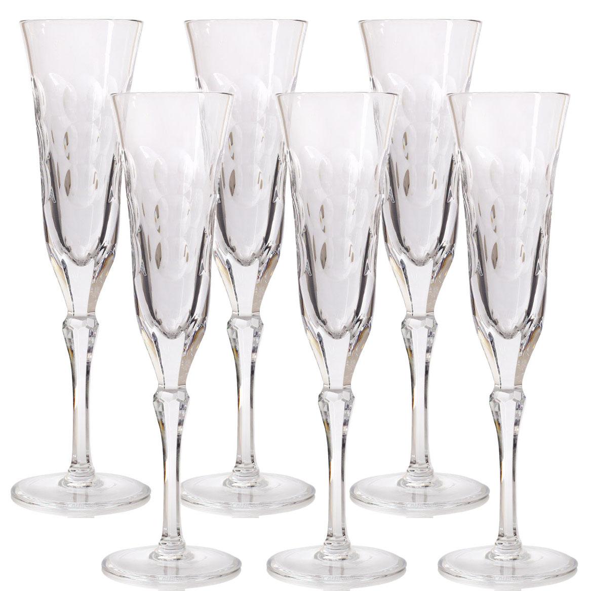 Хрустальные бокалы для шампанского Christofle Kawali