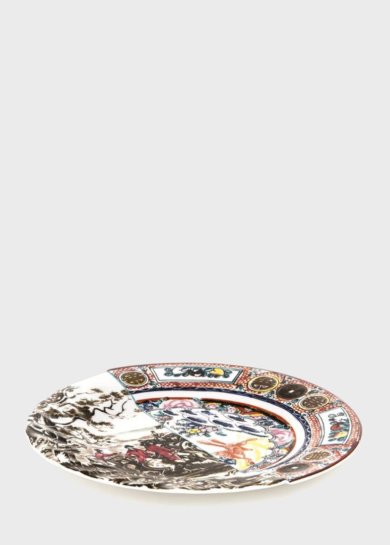 Тарелка из фарфора Seletti Hybrid Eusafia обеденная