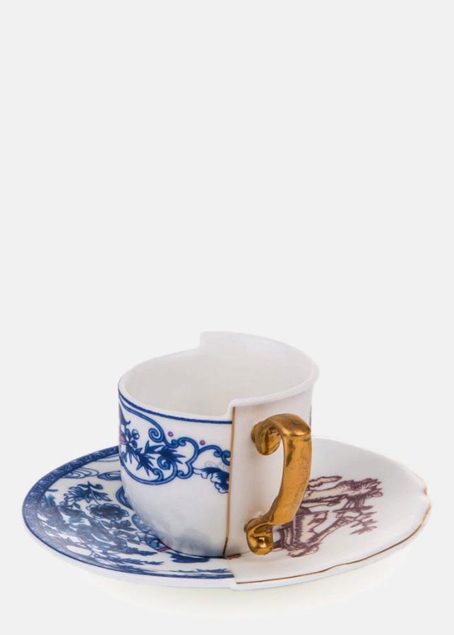 Кофейная чашка Seletti Hybrid Eufemia с блюдцем