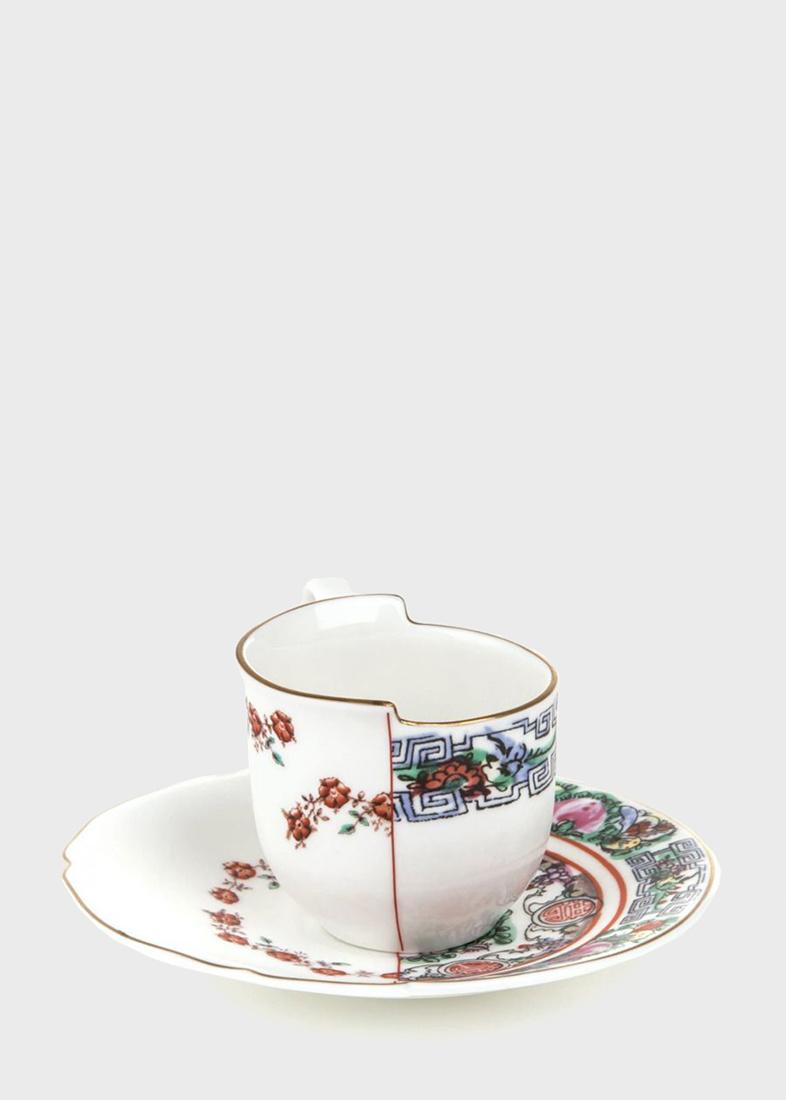 Чашка кофейная с блюдцем Seletti Hybrid Tamara