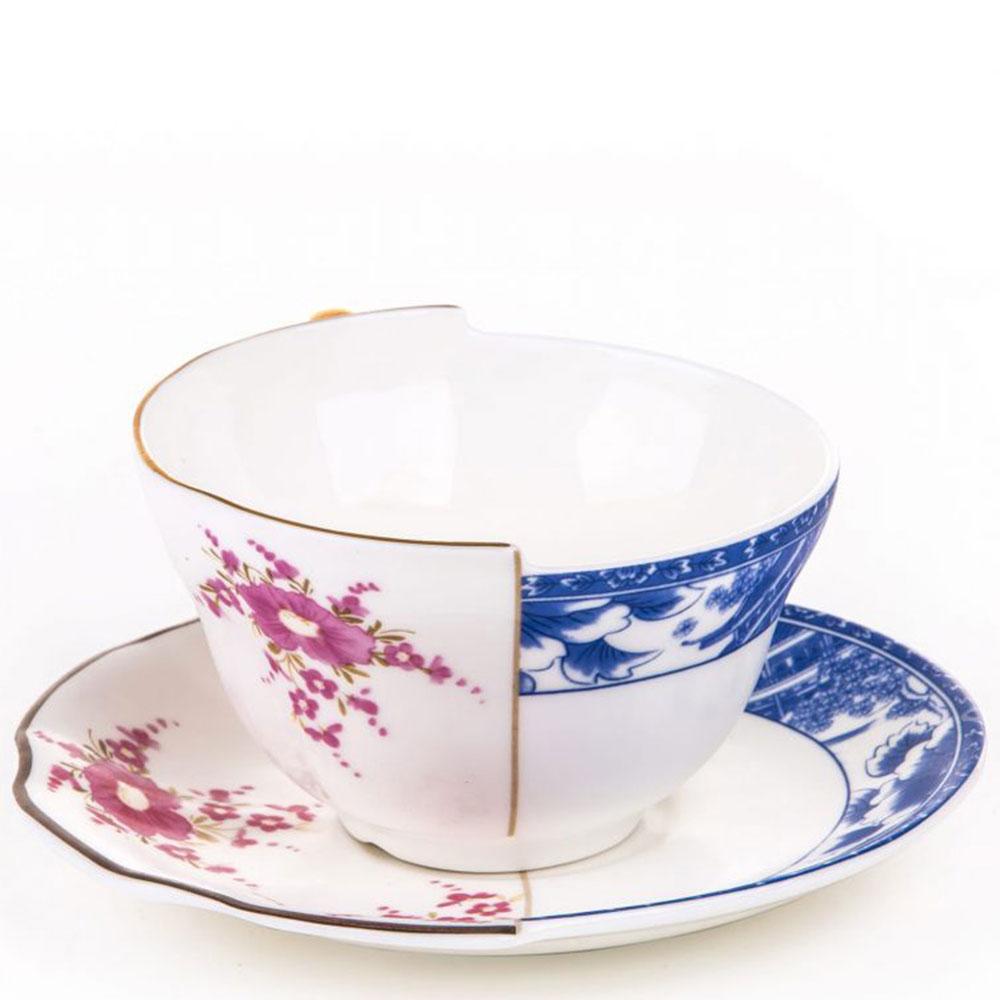 Чашка для чая Seletti Hybrid Zenobia с блюдцем