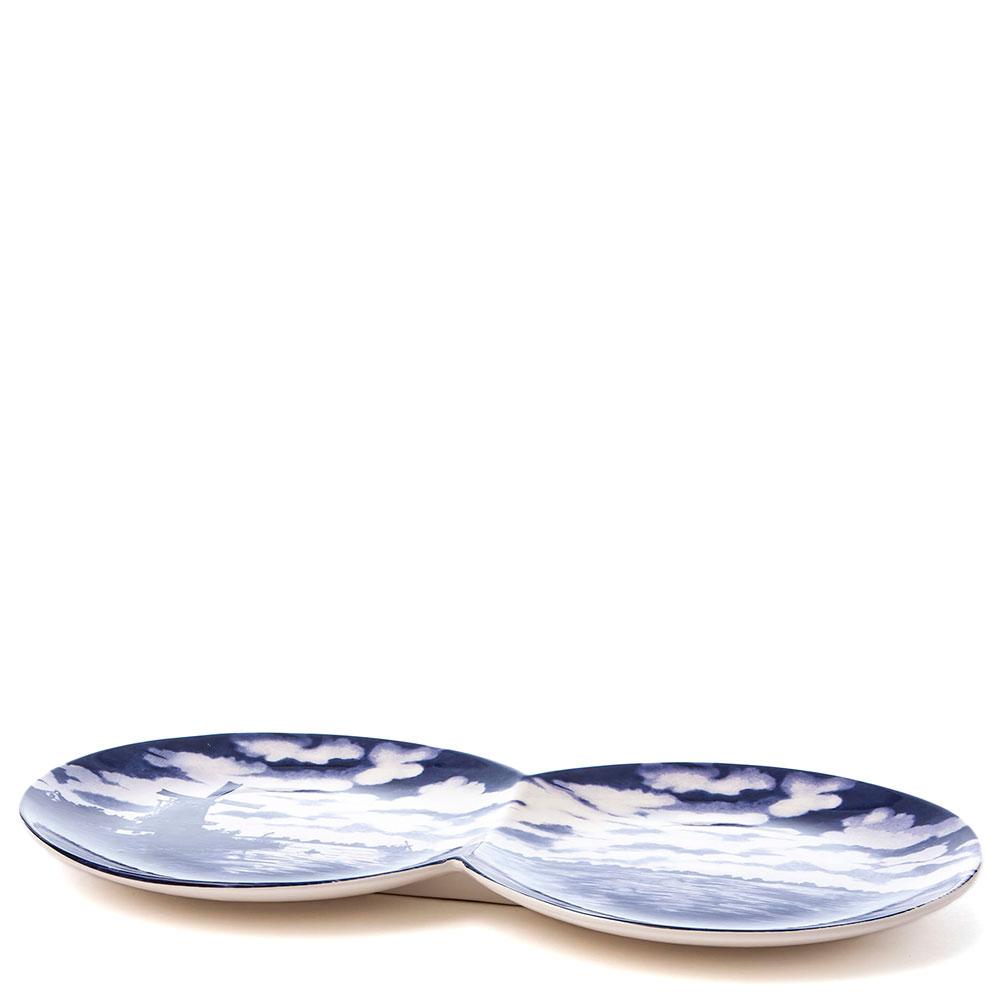 Двойное блюдо из фарфора Seletti