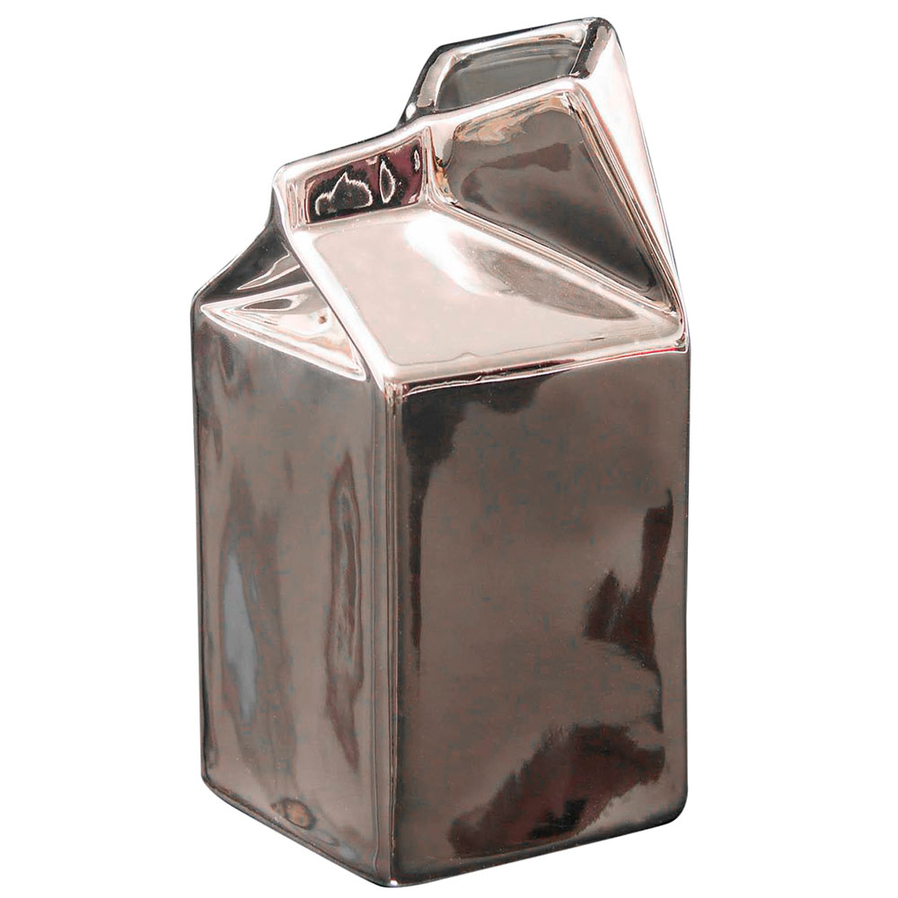 Молочник Seletti под серебро из фарфора