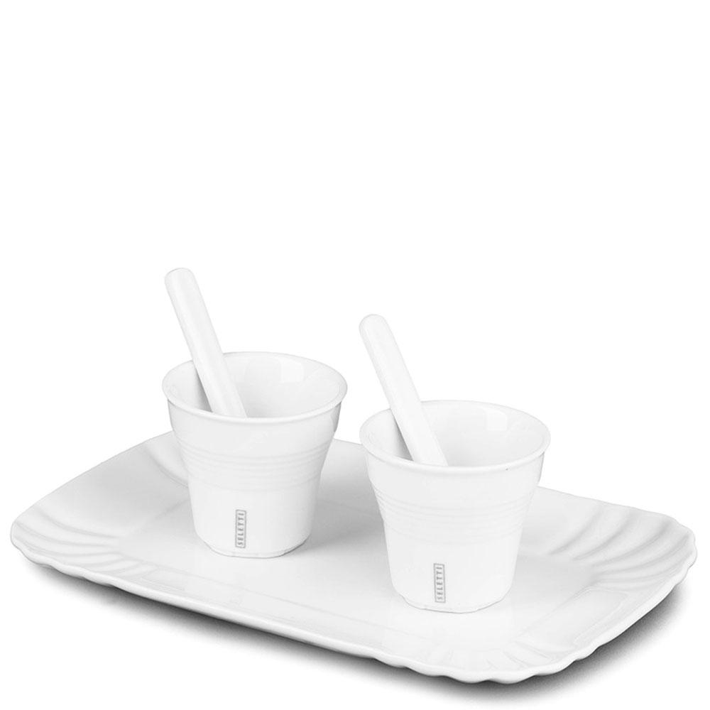 Кофейный набор Seletti из белого фарфора