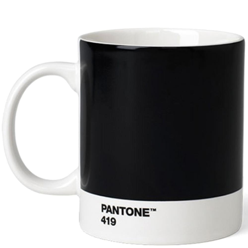 Кружка Pantone Black 419 из керамики черного цвета