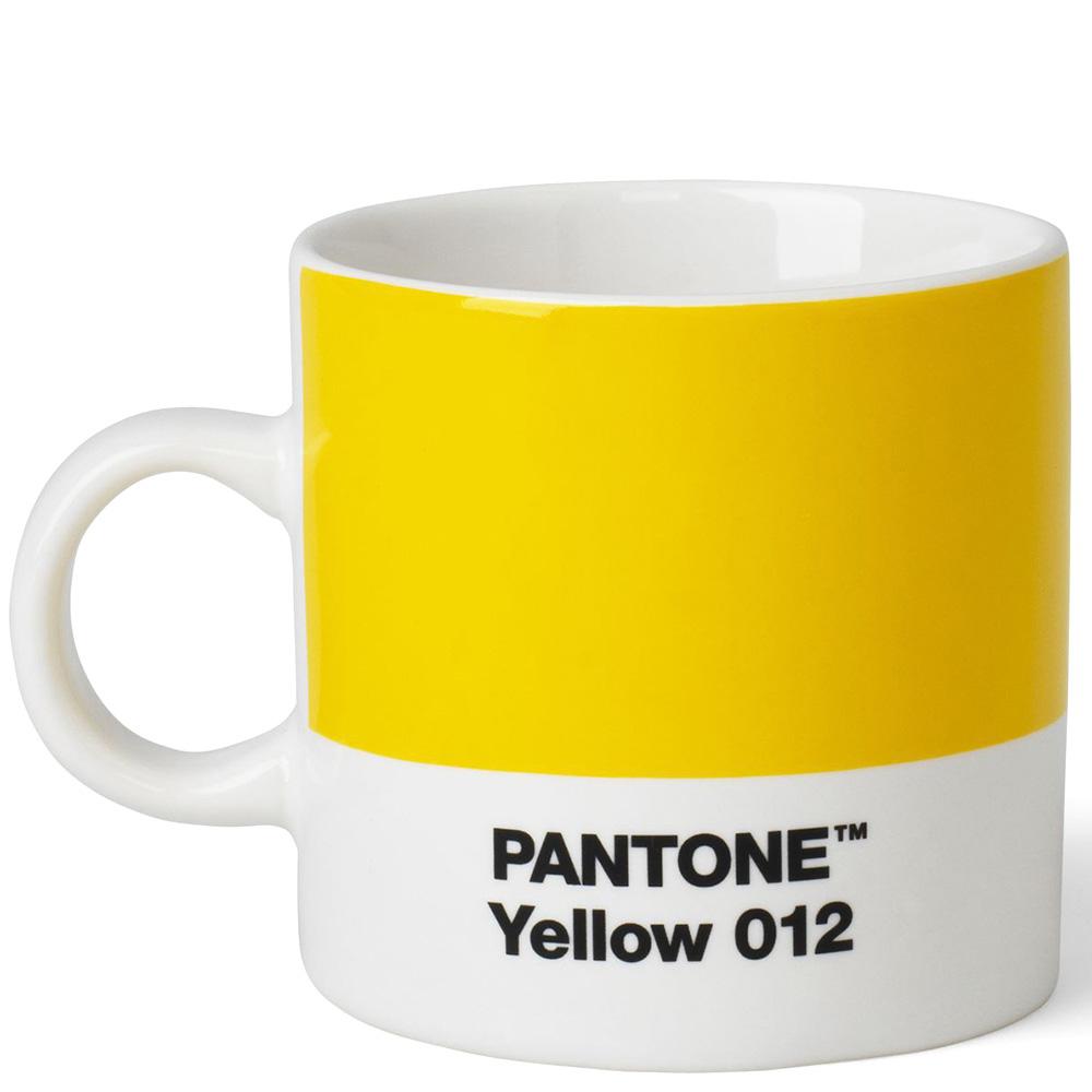 Желтая чашка для эспрессо Pantone Yellow 012