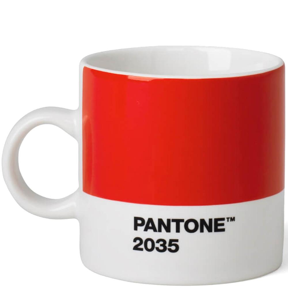 Чашка Pantone Red 2035 из керамики красного цвета