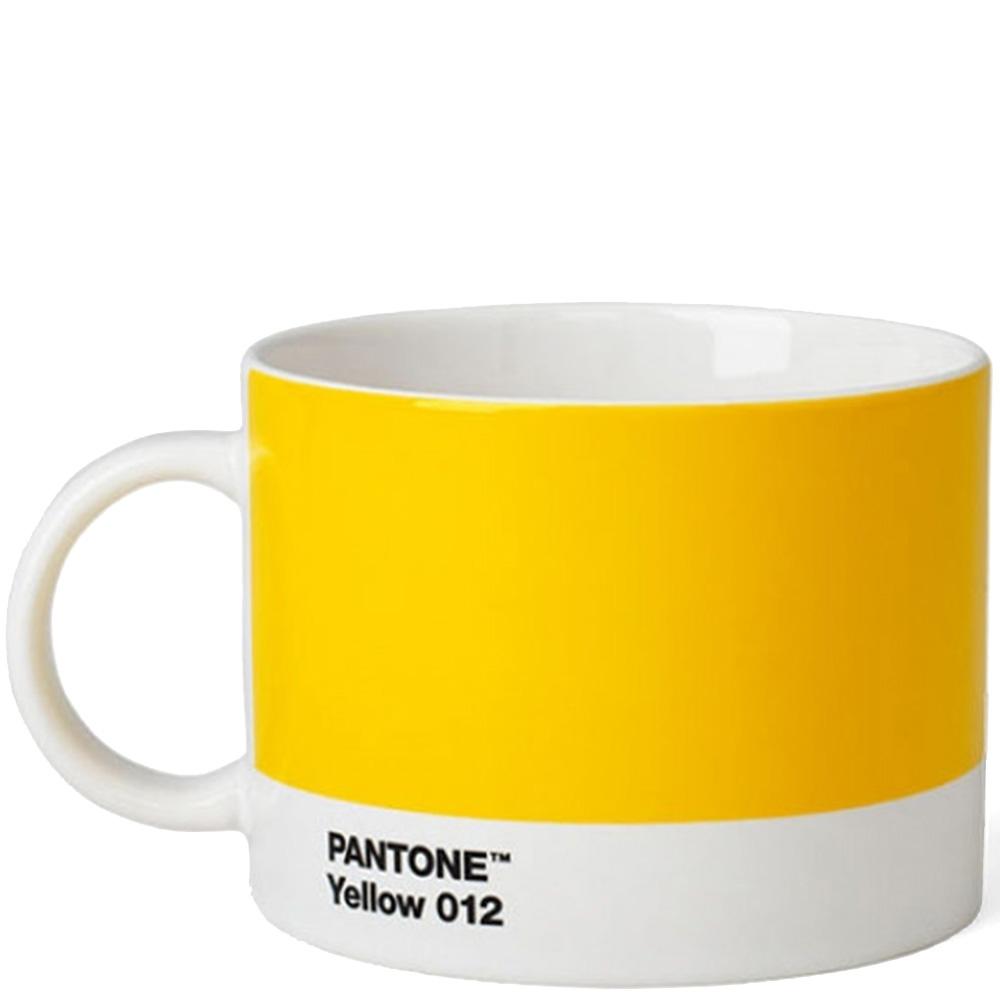 Желтая чашка Pantone Yellow 012 для чая