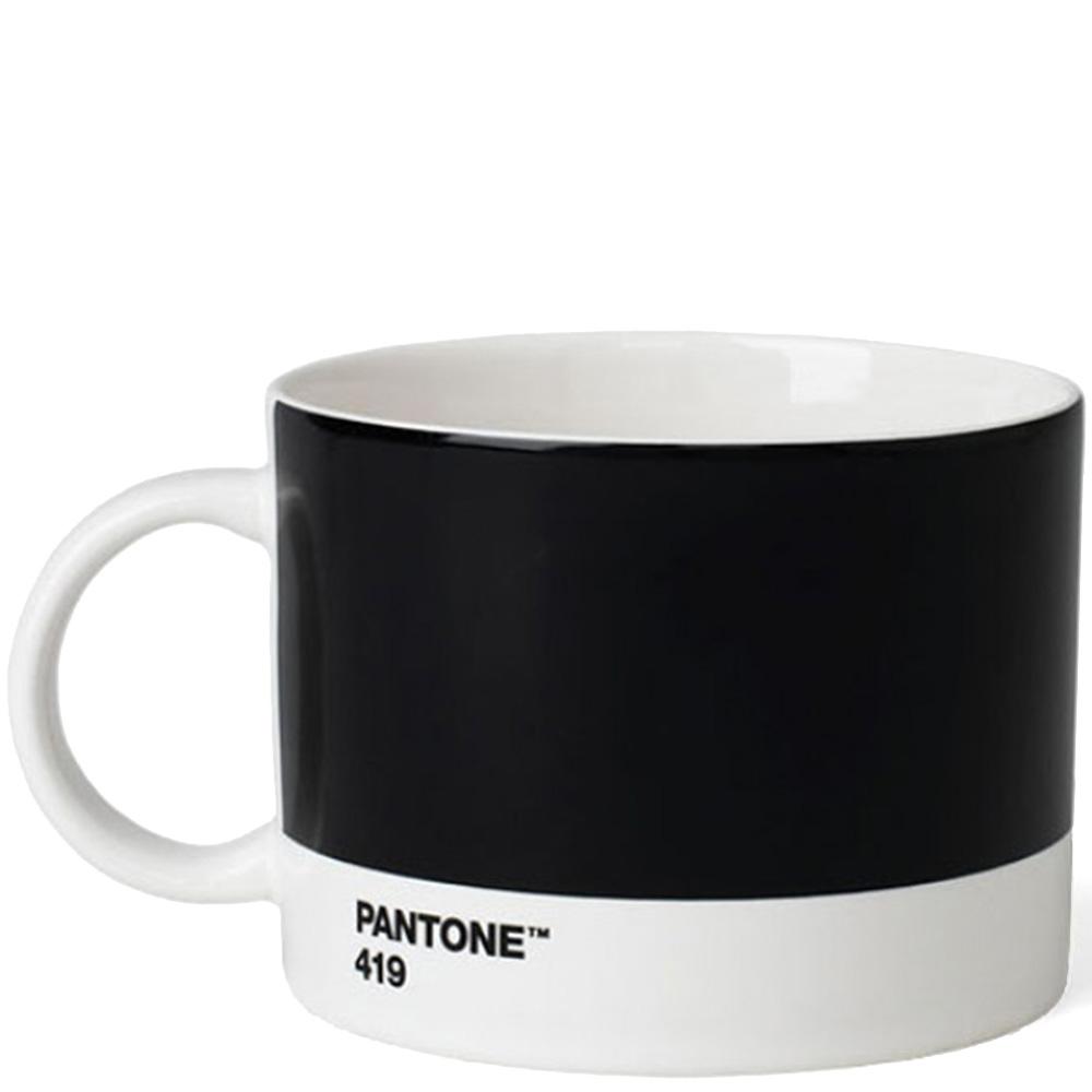 Черная чашка для чая Pantone Black 419 475 мл