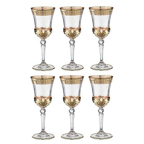 Набор бокалов Same decorasione с отделкой из золота
