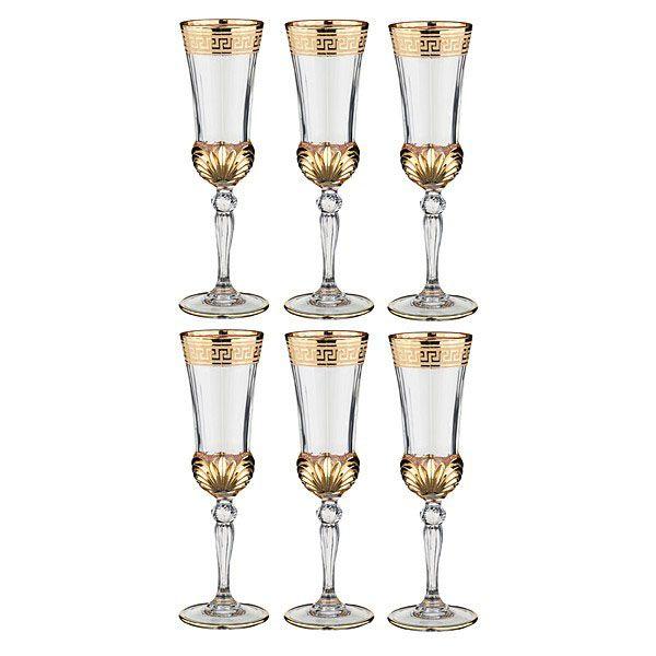 Набор бокалов для шампанского Same decorasione из хрусталя