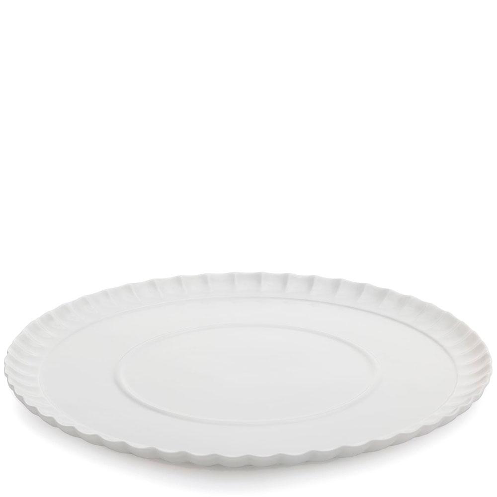 Волнистая тарелка Seletti белого цвета