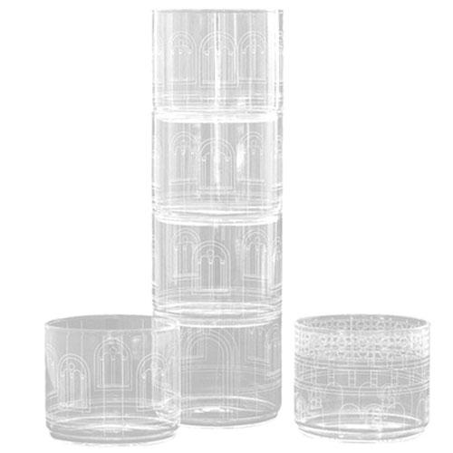 Набор Seletti Palaca Torre из прозрачных стаканов