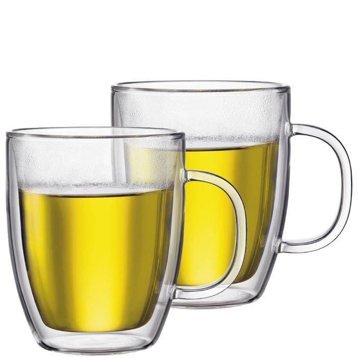 Набор чашек Bodum Bistro с двойными стенками 0.48 л