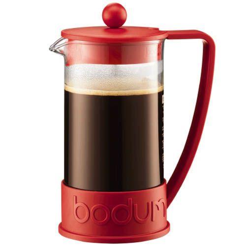 Кофейник Bodum Brazil френч-пресс красный 1л