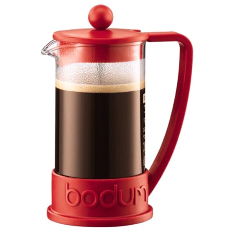 Френч-пресс Bodum Brazil красного цвета 0,35л