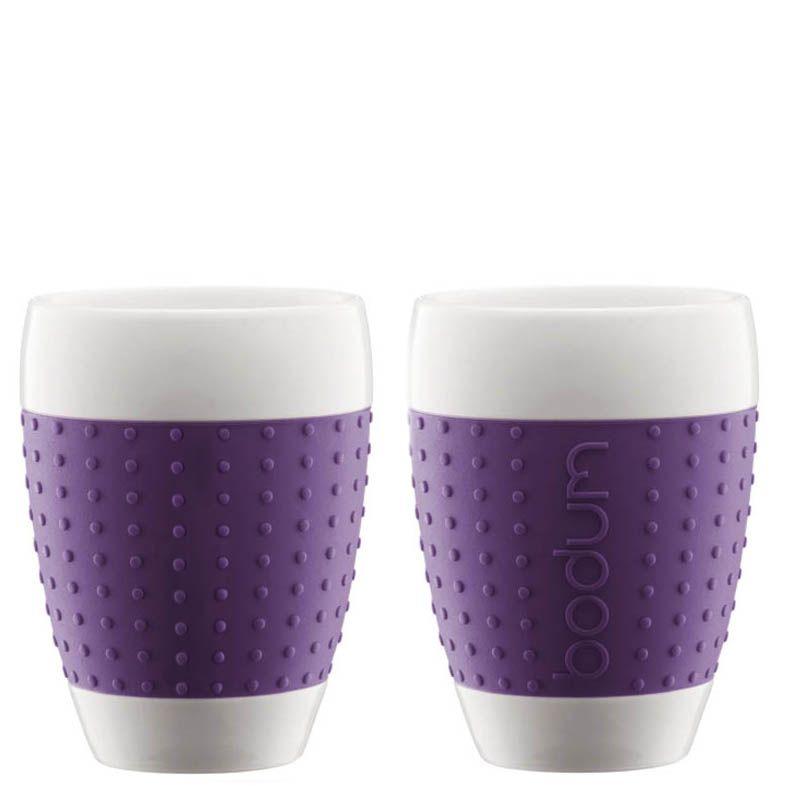 Набор из двух стаканов 0,4 л Bodum Pavina фиолетовый