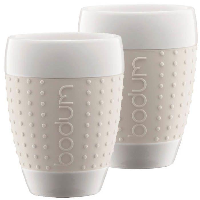 Набор из двух стаканов 0,4 л Bodum Pavina белый