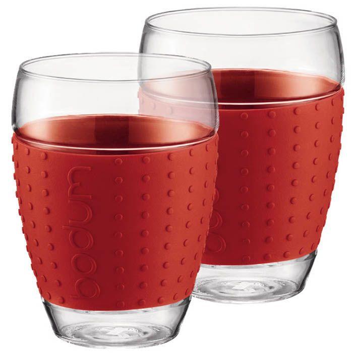 Набор из двух стаканов 0.45 л Bodum Pavina красный