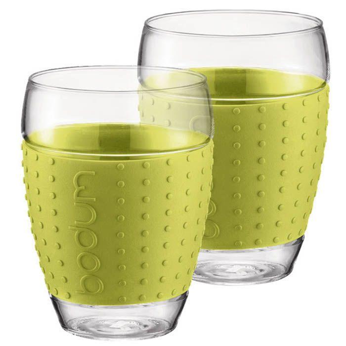 Набор из двух стаканов 0,45 л Bodum Pavina зеленый