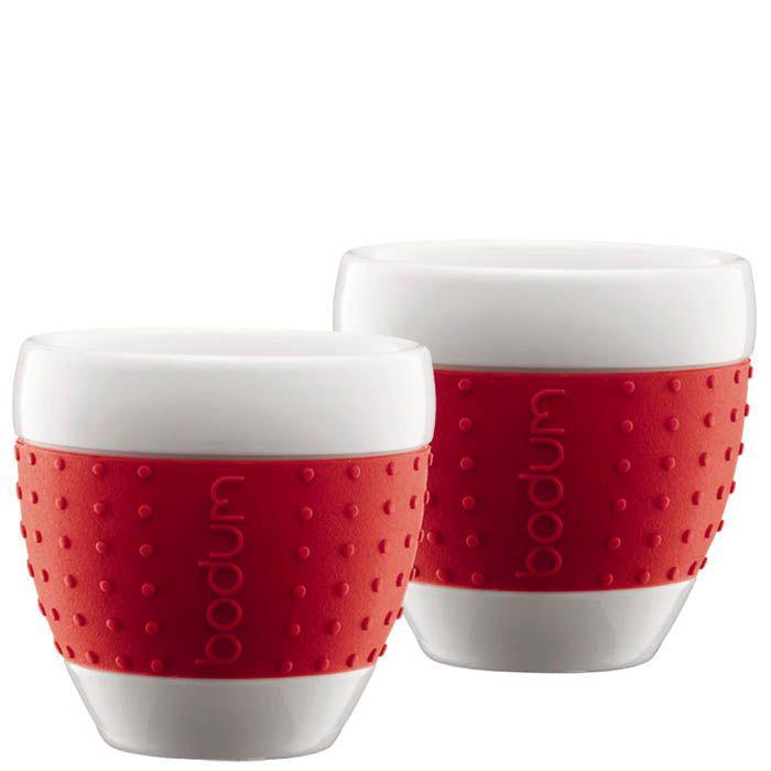 Набор из двух стаканов 0.25 л Bodum Pavina красный