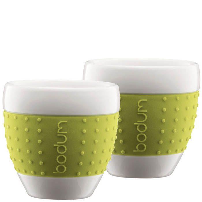 Набор из двух стаканов 0,25 л Bodum Pavina зеленый