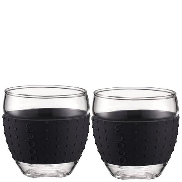 Набор чашек Bodum Pavina с силиконовыми вставками черного цвета объемом 350 мл