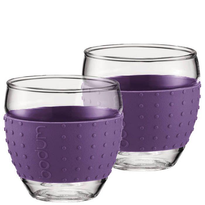 Набор из двух стаканов 0.35 л Bodum Pavina фиолетовый