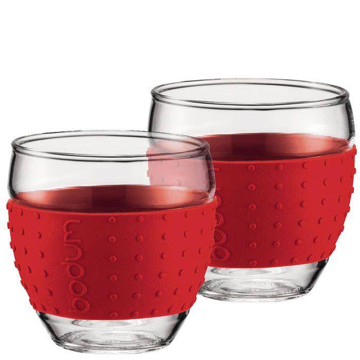 Набор из двух стаканов 0,35 л Bodum Pavina красный