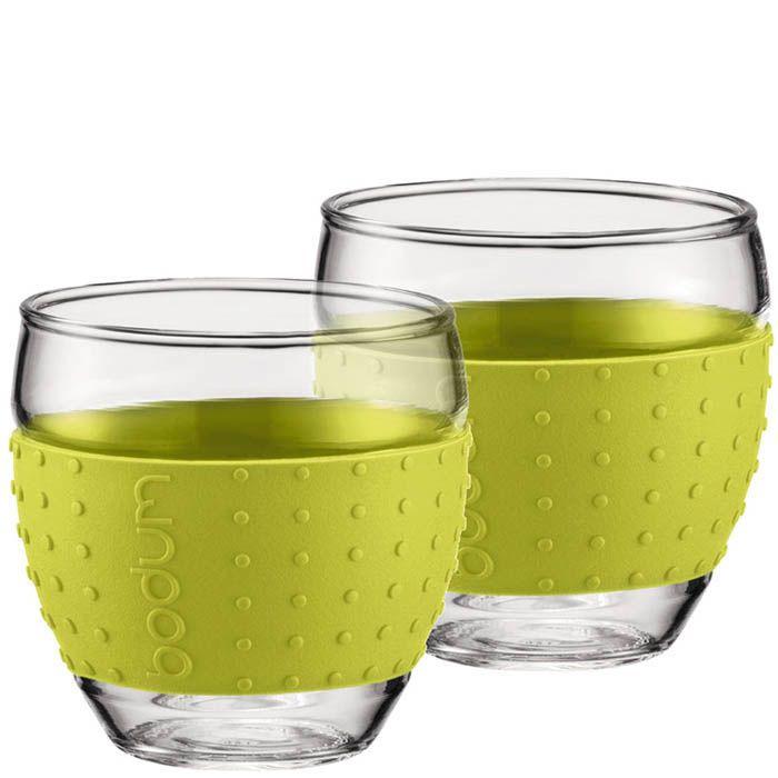Набор из двух стаканов 0,35 л Bodum Pavina зеленый