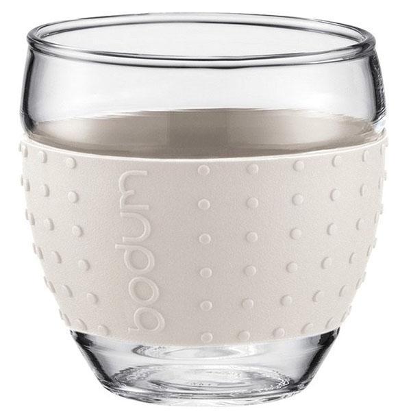 Набор чашек Bodum Pavina с силиконовыми вставками белого цвета объемом 350 мл