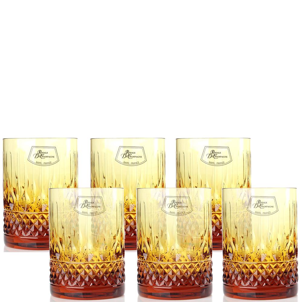 Набор хрустальных бокалов для виски Royale de Champagne 280 мл 6шт