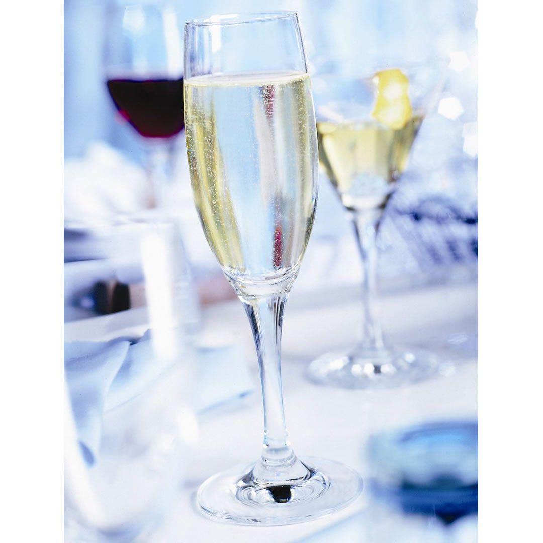 Набор узких бокалов бокал Schott Zwiesel Mondial для шампанского 192 мл из прочного хрустального стекла