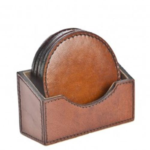 Комплект подстаканников Balmuir Winston коричневого цвета