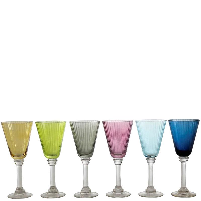 Набор цветных бокалов для вина HOFF Interieur Lulu 6шт