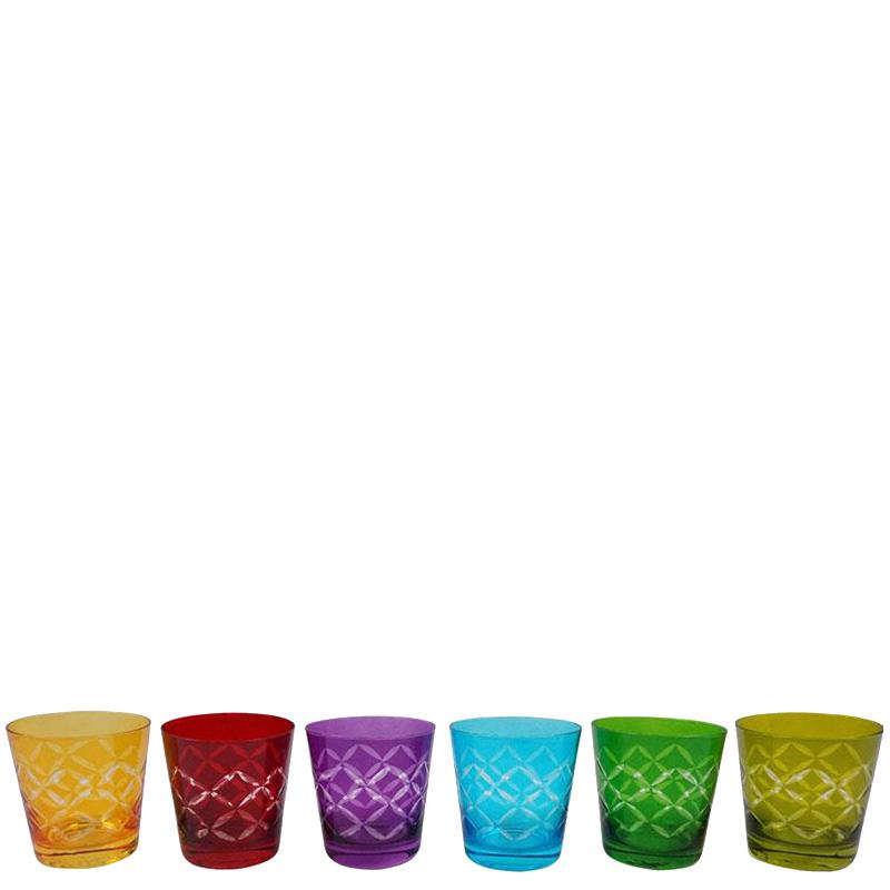 Набор цветных стаканов HOFF Interieur Fidelio 6шт