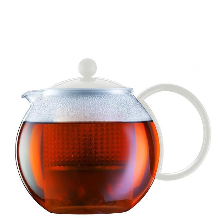 Заварочный чайник Bodum Assam белого цвета 1л