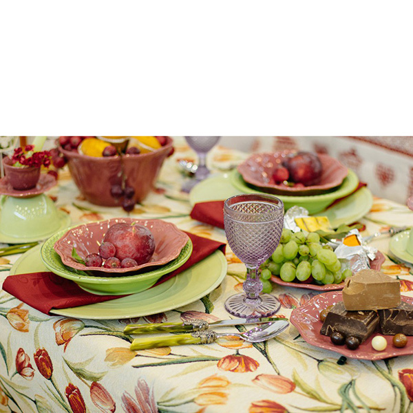 Набор из 6 суповых тарелок Bizzirri Venezia Verde