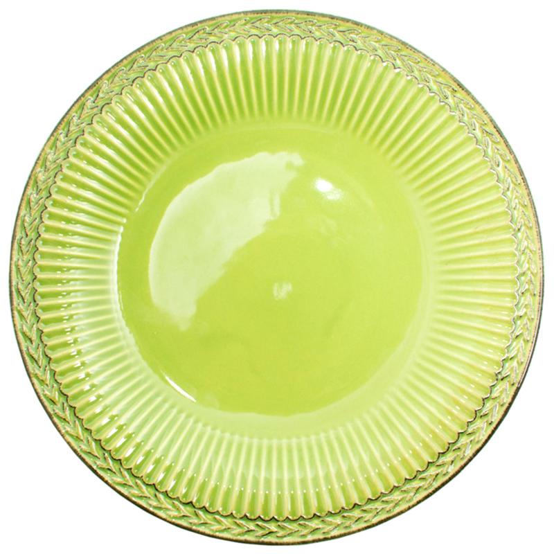 Тарелка обеденная Bizzirri Venezia Verde зеленая