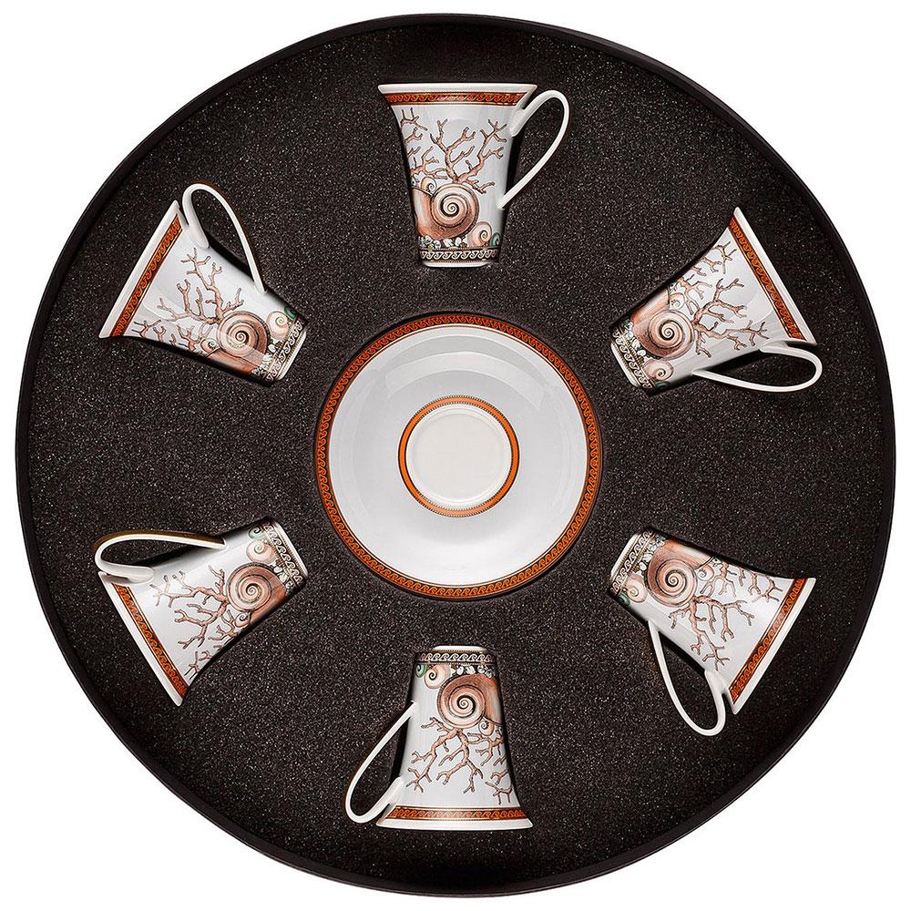 Кофейный сервиз Rosenthal Versace Etoiles de la Mer для эспрессо 6 персон